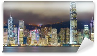 Vinylová Fototapeta Hong Kong panorama mlha Victoria přístavu