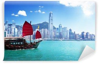 Vinylová Fototapeta Hong Kong přístav