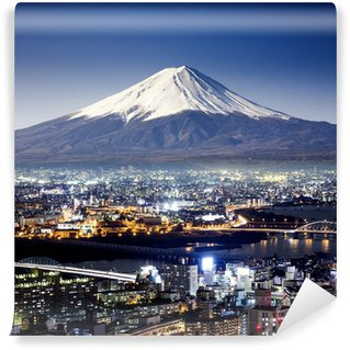 Vinylová Fototapeta Hora Fuji. Fujiyama. Letecký pohled s lepšího využi surrealistické výstřel. J