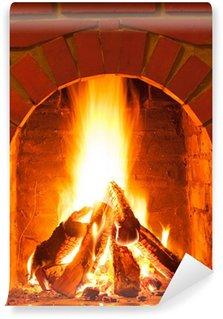 Vinylová Fototapeta Hořící oheň