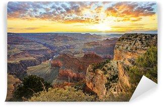 Vinylová Fototapeta Horizontální pohled na slavné Grand Canyon při východu slunce