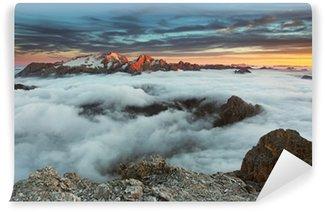 Vinylová Fototapeta Horské Marmolada při západu slunce v Itálii Alpy Dolomity