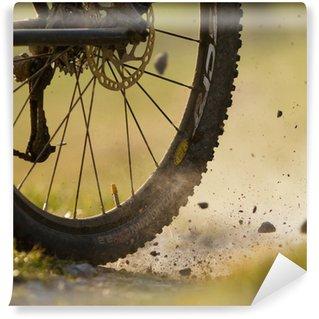 Vinylová Fototapeta Horské motorkář na polní cestě