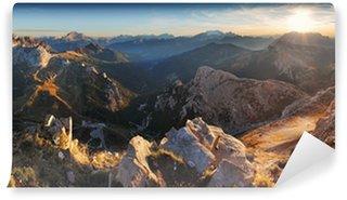 Vinylová Fototapeta Horské slunce panorama krajiny - v Itálii Alpy - Dolomity