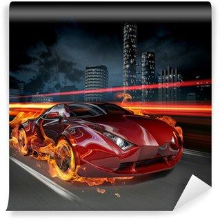 Vinylová Fototapeta Hot auta
