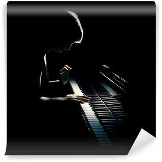 Vinylová Fototapeta Hra na klavír pianista koncertu. Klasická hudba