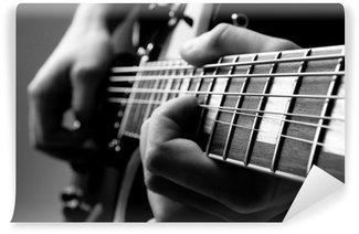 Vinylová Fototapeta Hrát na kytaru
