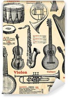 Vinylová Fototapeta Hudební nástroje