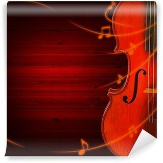 Vinylová Fototapeta Hudební pozadí s houslemi