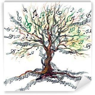 Vinylová Fototapeta Hudební strom