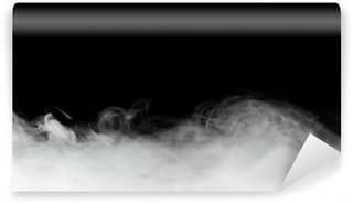 Vinylová Fototapeta Hustý kouř pozadí izolované na černém