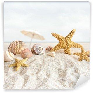 Vinylová Fototapeta Hvězdice a mušle na pláži