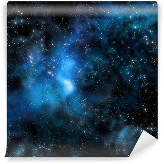 Vinylová Fototapeta Hvězdná hluboký vesmír mlhoviny a galaxie