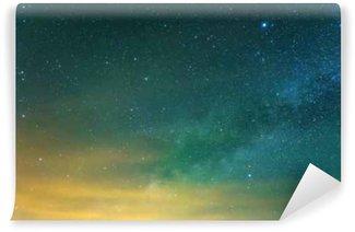 Vinylová Fototapeta Hvězdnou oblohu na pozadí