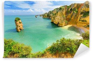 Vinylová Fototapeta Idylické pláže krajina u Lagos, Algarve (Portugalsko)