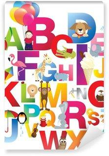 Vinylová Fototapeta Ilustrace abecedy dětské