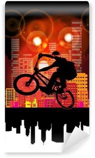 Vinylová Fototapeta Ilustrace BMX cyklista