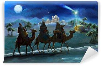 Vinylová Fototapeta Ilustrace svaté rodiny a tří králů