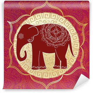 Vinylová Fototapeta Indický slon s mandal