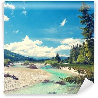 Vinylová Fototapeta Isar fließt aus den Alpen