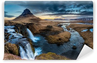 Vinylová Fototapeta Island krajina - Východ slunce na Mt. Kirkjufell