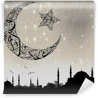 Vinylová Fototapeta Istanbul a kaligrafie měsíc a hvězdy