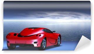 Vinylová Fototapeta Italienischer Konzept Sportwagen vor einem dynamischen Himmel