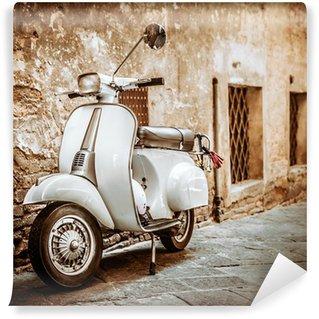 Vinylová Fototapeta Italská Scooter v Výstřední Alley, Vintage Mood