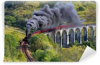 Vinylová Fototapeta Jacobite vlaku Glenfinnan viadukt Highland Skotsko