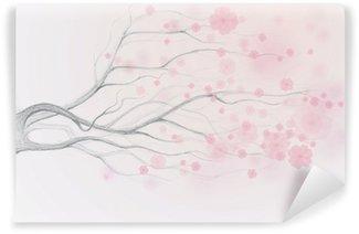 Fototapeta Vinylowa Japońska wiśnia / Spring background