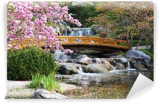 Vinylová Fototapeta Japonská zahrada na jaře