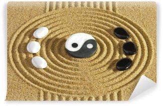 Vinylová Fototapeta Japonský zen zahrada s kameny jin a jang