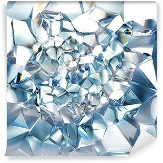 Vinylová Fototapeta Jasné, ledově modrá krystal pozadí