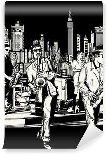 Vinylová Fototapeta Jazz band hrál v New Yorku