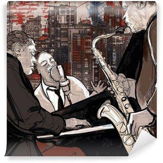 Vinylová Fototapeta Jazz band