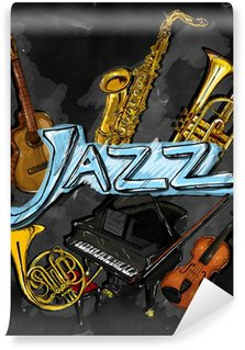 Vinylová Fototapeta Jazz Malba nástroje