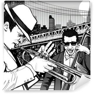 Vinylová Fototapeta Jazz v New Yorku
