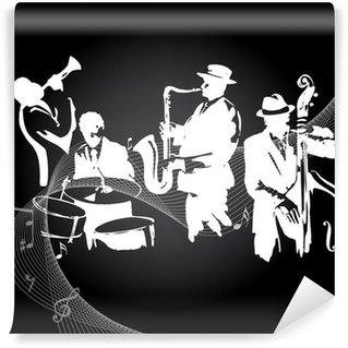 Vinylová Fototapeta Jazzový koncert černé pozadí