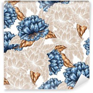 Fototapeta Winylowa Jednolite kwiatowy wzór graficzny