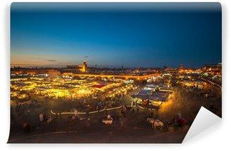 Vinylová Fototapeta Jemaa el-Fnaa, náměstí a tržiště v Marakéši v Maroku