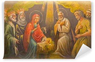 Vinylová Fototapeta Jeruselem - freska Narození v řecké pravoslavné církve
