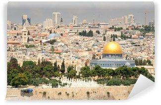 Vinylová Fototapeta Jeruzalém krajiny, jak je patrné z Olivetské hoře.
