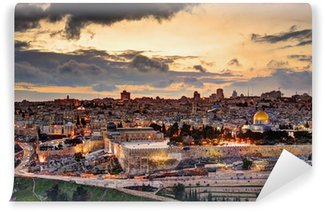 Vinylová Fototapeta Jeruzalém Staré Město Skyline