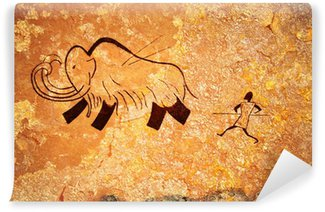 Vinylová Fototapeta Jeskynní malby primitivní lovu