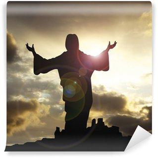 Vinylová Fototapeta Ježíš arms raised 1