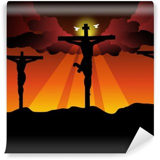 Vinylová Fototapeta Ježíš Kristus ukřižovaný