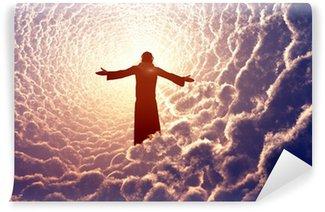 Vinylová Fototapeta Ježíš v oblacích.