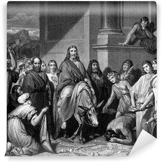 Vinylová Fototapeta Ježíše Krista vstup do Jeruzaléma