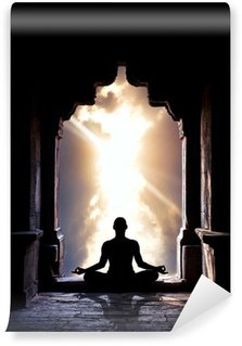 Vinylová Fototapeta Jóga meditace v chrámu