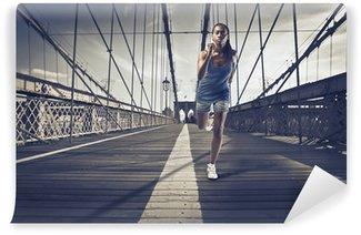 Vinylová Fototapeta Jogging v New Yorku
